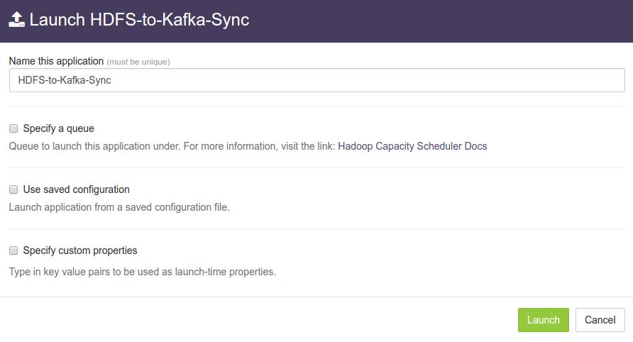HDFS to Kafka Sync App - DataTorrent Documentation